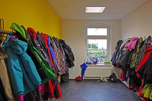 Garderobe im Forum Hoffnung